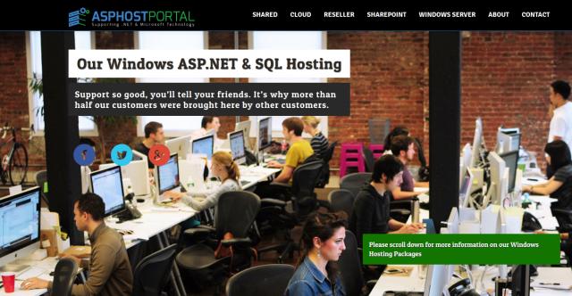 ASPHostPortal HomePage